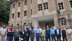 İçişleri  Bakanı Süleyman Soylu, memleketi Trabzonda yapımı süren yatırımları inceledi
