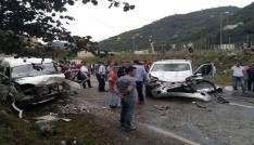 Giresunda trafik kazası: 1 ölü, 3 yaralı