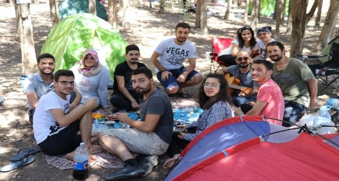 Hafta içi işe gidiyorlar, hafta sonu ormanda kamp yapıyorlar