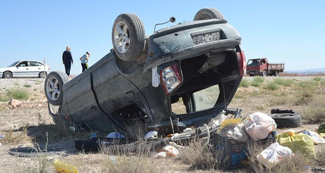 Karaman'da otomobil takla attı: 7 yaralı