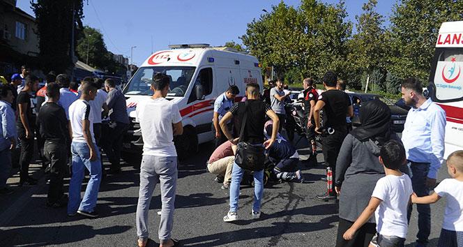 Şişlide yunus polisi kaza yaptı: 2 yaralı