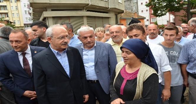 Kılıçdaroğlu, Fatsa'da sel bölgesinde