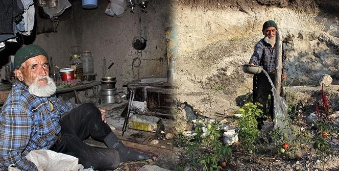 Hiç evlenmedi, 30 yıldır dağda tek başına yaşıyor