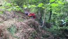 Uçuruma düşen yaşlı adam kurtarıldı