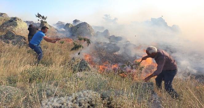 Hasan Dağında orman yangını
