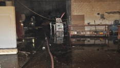 Bulanıkta mobilya fabrikasında yangın