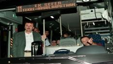 Başkan Erkoç belediye otobüslerini denetledi