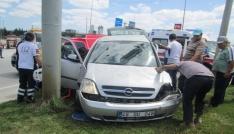 Bigada kaza: 2 yaralı