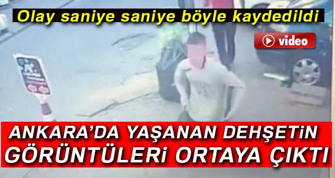Başkent'te pompalı tüfekle dehşet saçan çocuğun kaçış anı kamerada