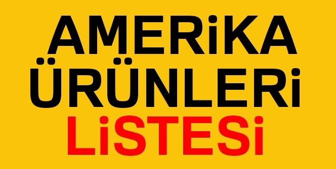 Amerika ürünleri LİSTESİ | ABD teknolojik, elektronik, giyim, gıda ürünleri isim listesi