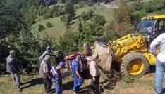 Kastamonuda devrilen traktörün altında kalan sürücü öldü