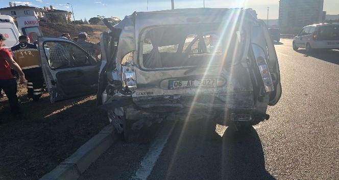 Kırıkkalede zincirleme kaza: 3 yaralı