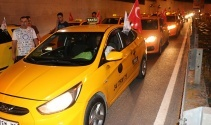 İstanbul'da taksicilerden ABD Başkonsolosluğu önünde protesto