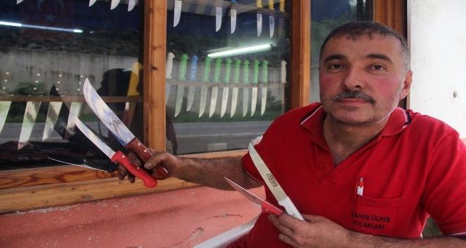Giresunda geleneksel yöntemle bıçak yapan son usta