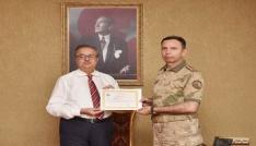 İl Jandarma Komutanı Cevlak Mersine veda etti