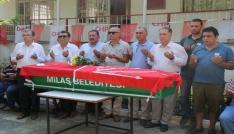 CHP Milas eski İlçe Başkanı Ali Mil son yolculuğuna uğurlandı