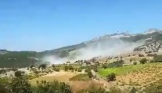 Adıyamanda 4 askerin şehit olduğu terör olayından sıcak görüntü