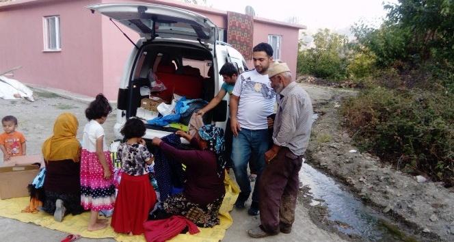 Sendika çalışanlarından 200 aileye giyim yardımı