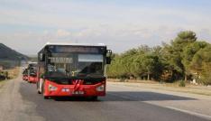 Manisada bayramda kırmızı otobüsler ücretsiz