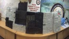 Kızıltepede 35 bin paket kaçak sigara ele geçirildi