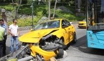Şişli'de 'UBER sıkıştırdı' iddiasıyla kaza yapan taksici alkolü çıktı