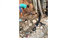 Kontrolden çıkan kamyon kayalara çarptı: 2 yaralı
