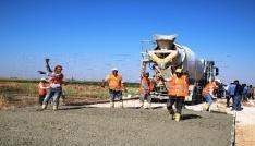 Büyükşehirde beton yol uygulaması sürüyor