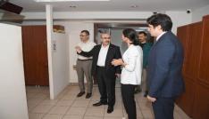 Vali Demirtaş, Sosyal Yardımlaşma Vakfında incelemelerde bulundu