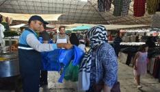 Şahinbeyde 280 bin adet kurban atık poşeti dağıtıldı