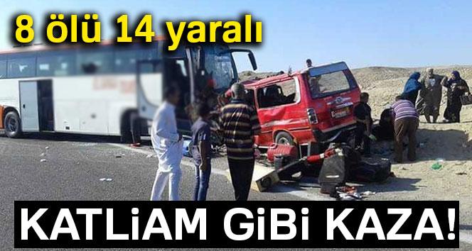 Mısır'da trafik kazası: 8 ölü, 14 yaralı