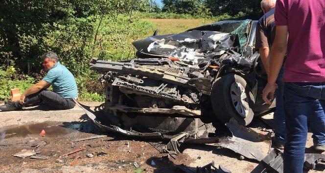 Orduda trafik kazası: 2 ölü, 4 yaralı