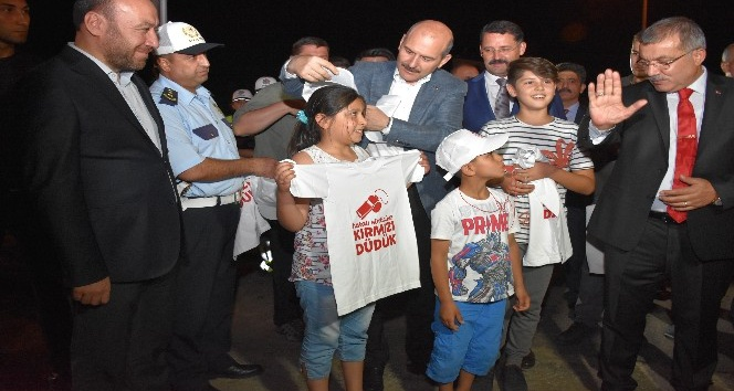 """İçişleri Bakanı Soylu: """"Kırmızı düdük kampanyasında, çocuklarımıza sorumluluk yükledik"""""""