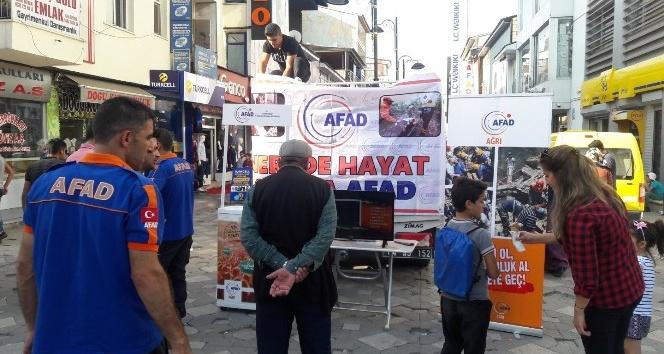 Ağrı AFAD Marmara Depremini unutmadı