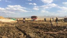 Erzurumda korkutan ot yangını