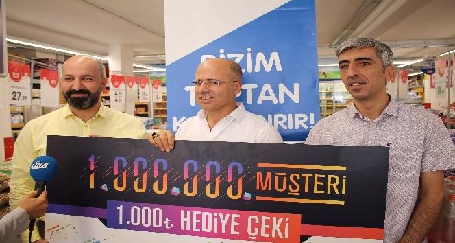 Bizim Toptan Satış Mağazalarının 1 milyonuncu şanslı müşterisi Midyattan