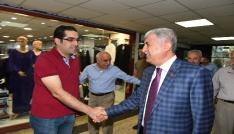 Başkan Polat kapalı çarşı esnaflarıyla bir araya geldi