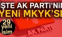 İşte AK Parti'nin MKYK listesi! Listede kimler VAR?