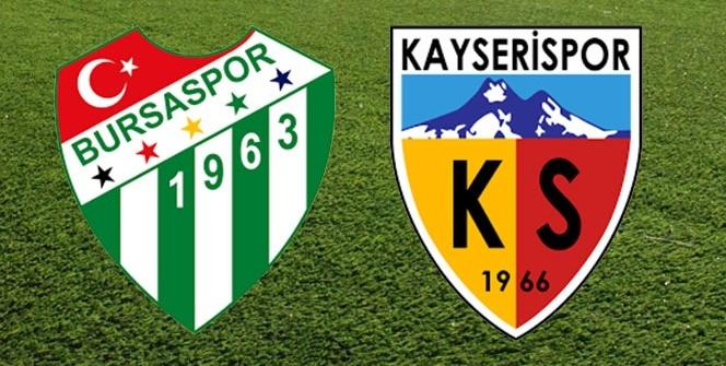 Bursaspor Kayserispor Maç Ekranı