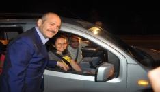 Bakan Soylu, Afyonkarahisarda trafik uygulamasına katıldı