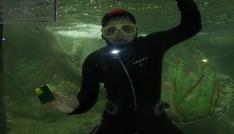 Hayvanat bahçesindeki dev akvaryumlarda bayram temizliği