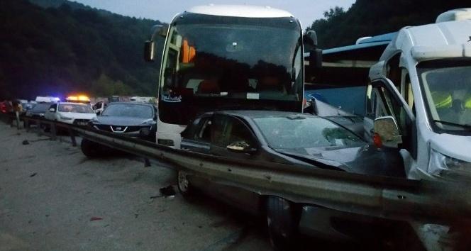 (Özel Habek) 34 aracın karıştığı kazanın yeni görüntüleri ortaya çıktı