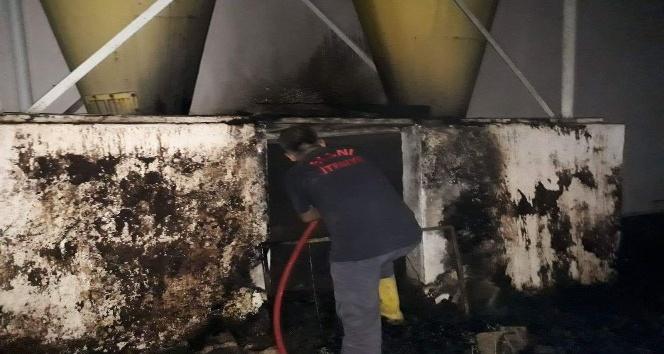 Yağ fabrikasında çıkan yangın korkuttu
