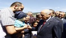 MHP Lideri Bahçeli Ülkücü Şehitler Anıtını ziyaret etti