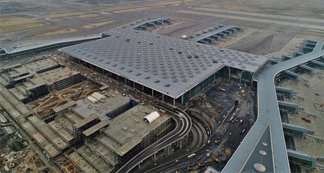 İstanbul'un yeni havalimanı havadan görüntülendi