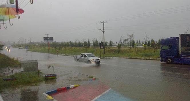 Trabzon'da dolu yağışı etkili oldu