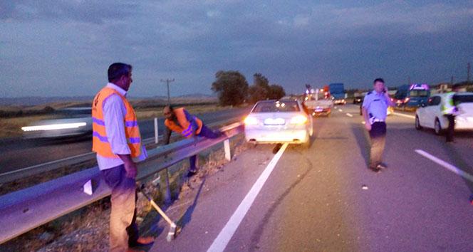 Sungurlu'da otomobiller çarpıştı : 2 yaralı