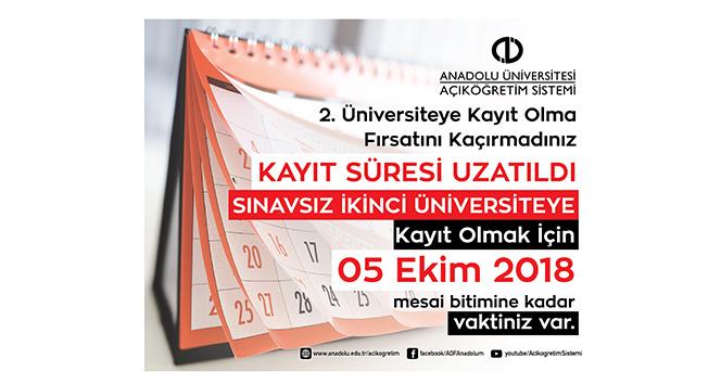 Son dakika: Açıköğretim 'ikinci üniversite' kayıtları uzatıldı |AÖF İkinci Üniversite kayıtları ne zaman sona eriyor?