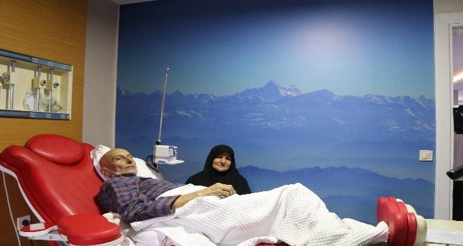 Kemoterapi merkezinde sanal gökyüzü