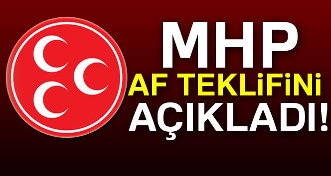 MHP'li Fethi Yıldız MHP'nin af teklifini açıkladı