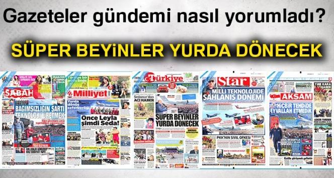 23 Eylül 2018 Gazete Manşetleri